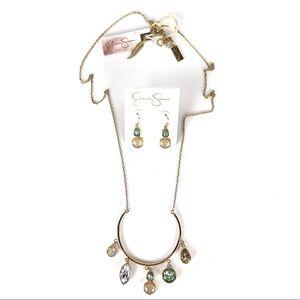Jessica Simpson Jewelry - JESSICA SIMPSON Opalescence Necklace & Earring Set